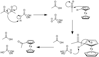 acetylation-of-ferrocene-mechanism