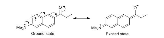 Prodan intramolecular charge transfer