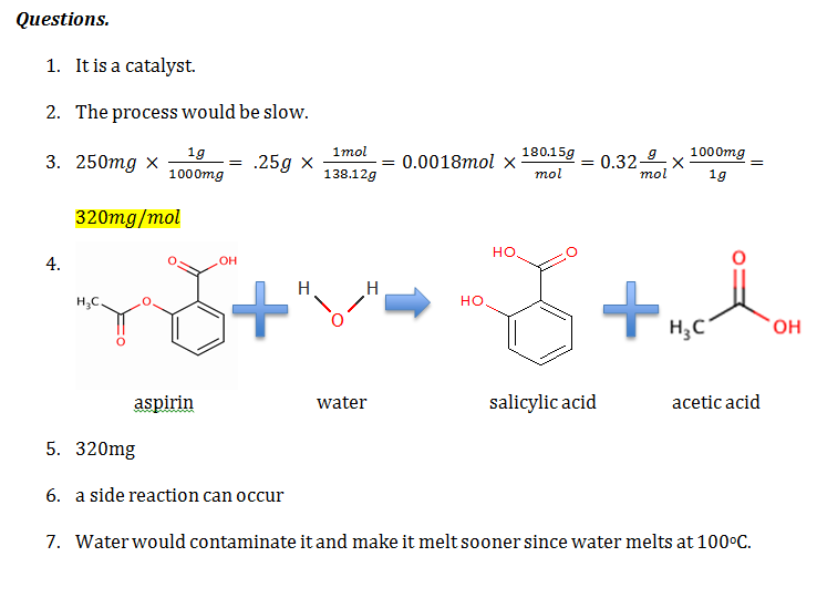 synthesis of salicylic acid Chan 1 introduction acetyl salicylic acid, commonly known as aspirin, is one of the most common synthetic medicines first discovered in 1897 by felix hoffman, it has.