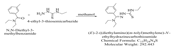 Deet Synthesis with 4-ethyl-3-thiosemicarbazide