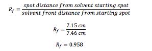 Rf-calculations