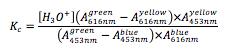 Kc = equation 2
